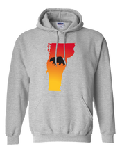 Load image into Gallery viewer, Pullover Hooded Sweatshirt Vermont Athletic Heather Black Bear Vibrant Design High Quality Tight Knit Ring Spun Low Maintenance Cotton Printed With The Newest Available Color Transfer Technology