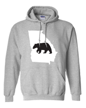 Load image into Gallery viewer, Pullover Hooded Sweatshirt Georgia Athletic Heather Black Bear Vibrant Design High Quality Tight Knit Ring Spun Low Maintenance Cotton Printed With The Newest Available Color Transfer Technology
