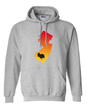 Load image into Gallery viewer, Pullover Hooded Sweatshirt New Jersey Athletic Heather Turkey Vibrant Design High Quality Tight Knit Ring Spun Low Maintenance Cotton Printed With The Newest Available Color Transfer Technology