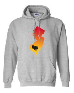 Pullover Hooded Sweatshirt New Jersey Athletic Heather Turkey Vibrant Design High Quality Tight Knit Ring Spun Low Maintenance Cotton Printed With The Newest Available Color Transfer Technology