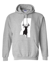 Load image into Gallery viewer, Pullover Hooded Sweatshirt Mississippi Athletic Heather Whitetail Deer Vibrant Design High Quality Tight Knit Ring Spun Low Maintenance Cotton Printed With The Newest Available Color Transfer Technology