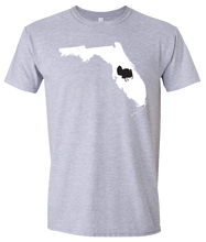 Load image into Gallery viewer, Short Sleeve T-Shirt Florida Athletic Heather Turkey Vibrant Design High Quality Tight Knit Ring Spun Low Maintenance Cotton Printed With The Newest Available Color Transfer Technology