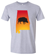 Load image into Gallery viewer, Short Sleeve T-Shirt Alabama Athletic Heather Wild Hog Vibrant Design High Quality Tight Knit Ring Spun Low Maintenance Cotton Printed With The Newest Available Color Transfer Technology