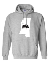 Load image into Gallery viewer, Pullover Hooded Sweatshirt Mississippi Athletic Heather Wild Hog Vibrant Design High Quality Tight Knit Ring Spun Low Maintenance Cotton Printed With The Newest Available Color Transfer Technology