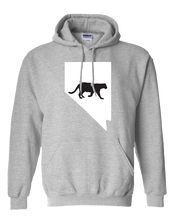 Load image into Gallery viewer, Pullover Hooded Sweatshirt Nevada Athletic Heather Mountain Lion Vibrant Design High Quality Tight Knit Ring Spun Low Maintenance Cotton Printed With The Newest Available Color Transfer Technology
