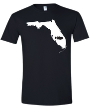Load image into Gallery viewer, Short Sleeve T-Shirt Florida Black Large Mouth Bass Vibrant Design High Quality Tight Knit Ring Spun Low Maintenance Cotton Printed With The Newest Available Color Transfer Technology