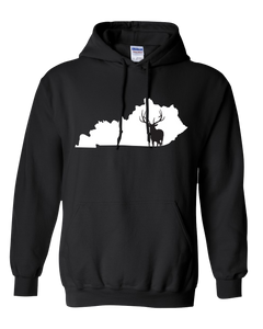 Pullover Hooded Sweatshirt Kentucky Black Elk Vibrant Design High Quality Tight Knit Ring Spun Low Maintenance Cotton Printed With The Newest Available Color Transfer Technology