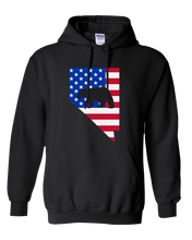 Load image into Gallery viewer, Pullover Hooded Sweatshirt Nevada Black Black Bear Vibrant Design High Quality Tight Knit Ring Spun Low Maintenance Cotton Printed With The Newest Available Color Transfer Technology