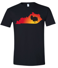 Load image into Gallery viewer, Short Sleeve T-Shirt Kentucky Black Turkey Vibrant Design High Quality Tight Knit Ring Spun Low Maintenance Cotton Printed With The Newest Available Color Transfer Technology