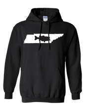 Load image into Gallery viewer, Pullover Hooded Sweatshirt Tennessee Black Large Mouth Bass Vibrant Design High Quality Tight Knit Ring Spun Low Maintenance Cotton Printed With The Newest Available Color Transfer Technology