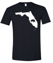 Load image into Gallery viewer, Short Sleeve T-Shirt Florida Black Wild Hog Vibrant Design High Quality Tight Knit Ring Spun Low Maintenance Cotton Printed With The Newest Available Color Transfer Technology