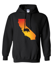 Load image into Gallery viewer, Pullover Hooded Sweatshirt California Black Wild Hog Vibrant Design High Quality Tight Knit Ring Spun Low Maintenance Cotton Printed With The Newest Available Color Transfer Technology