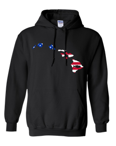 Pullover Hooded Sweatshirt Hawaii Black Large Mouth Bass Vibrant Design High Quality Tight Knit Ring Spun Low Maintenance Cotton Printed With The Newest Available Color Transfer Technology