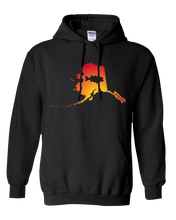 Load image into Gallery viewer, Pullover Hooded Sweatshirt Alaska Black Large Mouth Bass Vibrant Design High Quality Tight Knit Ring Spun Low Maintenance Cotton Printed With The Newest Available Color Transfer Technology