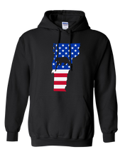 Load image into Gallery viewer, Pullover Hooded Sweatshirt Vermont Black Black Bear Vibrant Design High Quality Tight Knit Ring Spun Low Maintenance Cotton Printed With The Newest Available Color Transfer Technology