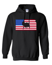 Load image into Gallery viewer, Pullover Hooded Sweatshirt Kansas Black Turkey Vibrant Design High Quality Tight Knit Ring Spun Low Maintenance Cotton Printed With The Newest Available Color Transfer Technology