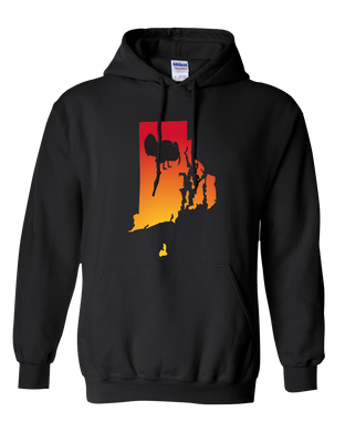 Pullover Hooded Sweatshirt Rhode Island Black Turkey Vibrant Design High Quality Tight Knit Ring Spun Low Maintenance Cotton Printed With The Newest Available Color Transfer Technology