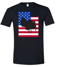 Load image into Gallery viewer, Short Sleeve T-Shirt Utah Black Turkey Vibrant Design High Quality Tight Knit Ring Spun Low Maintenance Cotton Printed With The Newest Available Color Transfer Technology