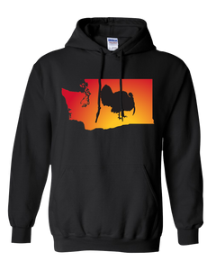 Pullover Hooded Sweatshirt Washington Black Turkey Vibrant Design High Quality Tight Knit Ring Spun Low Maintenance Cotton Printed With The Newest Available Color Transfer Technology