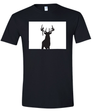 Load image into Gallery viewer, Short Sleeve T-Shirt Colorado Black Whitetail Deer Vibrant Design High Quality Tight Knit Ring Spun Low Maintenance Cotton Printed With The Newest Available Color Transfer Technology