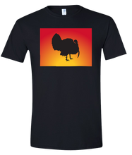 Load image into Gallery viewer, Short Sleeve T-Shirt Colorado Black Turkey Vibrant Design High Quality Tight Knit Ring Spun Low Maintenance Cotton Printed With The Newest Available Color Transfer Technology