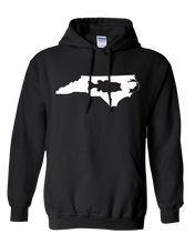 Load image into Gallery viewer, Pullover Hooded Sweatshirt North Carolina Black Large Mouth Bass Vibrant Design High Quality Tight Knit Ring Spun Low Maintenance Cotton Printed With The Newest Available Color Transfer Technology