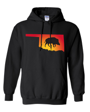 Load image into Gallery viewer, Pullover Hooded Sweatshirt Oklahoma Black Wild Hog Vibrant Design High Quality Tight Knit Ring Spun Low Maintenance Cotton Printed With The Newest Available Color Transfer Technology