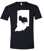Load image into Gallery viewer, Short Sleeve T-Shirt Indiana Black Turkey Vibrant Design High Quality Tight Knit Ring Spun Low Maintenance Cotton Printed With The Newest Available Color Transfer Technology