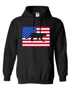 Pullover Hooded Sweatshirt Colorado Black Mountain Lion Vibrant Design High Quality Tight Knit Ring Spun Low Maintenance Cotton Printed With The Newest Available Color Transfer Technology