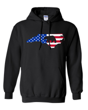 Load image into Gallery viewer, Pullover Hooded Sweatshirt North Carolina Black Black Bear Vibrant Design High Quality Tight Knit Ring Spun Low Maintenance Cotton Printed With The Newest Available Color Transfer Technology