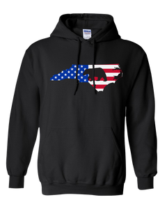 Pullover Hooded Sweatshirt North Carolina Black Black Bear Vibrant Design High Quality Tight Knit Ring Spun Low Maintenance Cotton Printed With The Newest Available Color Transfer Technology