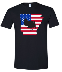 Short Sleeve T-Shirt Arkansas Black Turkey Vibrant Design High Quality Tight Knit Ring Spun Low Maintenance Cotton Printed With The Newest Available Color Transfer Technology