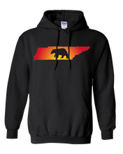 Load image into Gallery viewer, Pullover Hooded Sweatshirt Tennessee Black Black Bear Vibrant Design High Quality Tight Knit Ring Spun Low Maintenance Cotton Printed With The Newest Available Color Transfer Technology
