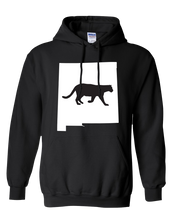 Load image into Gallery viewer, Pullover Hooded Sweatshirt New Mexico Black Mountain Lion Vibrant Design High Quality Tight Knit Ring Spun Low Maintenance Cotton Printed With The Newest Available Color Transfer Technology