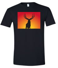 Load image into Gallery viewer, Short Sleeve T-Shirt Colorado Black Mule Deer Vibrant Design High Quality Tight Knit Ring Spun Low Maintenance Cotton Printed With The Newest Available Color Transfer Technology