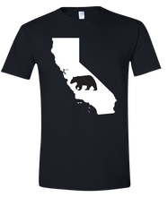 Load image into Gallery viewer, Short Sleeve T-Shirt California Black Black Bear Vibrant Design High Quality Tight Knit Ring Spun Low Maintenance Cotton Printed With The Newest Available Color Transfer Technology