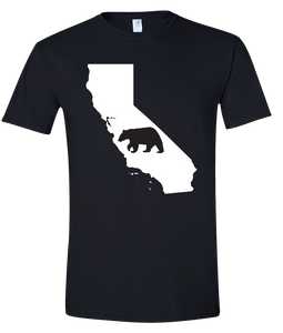 Short Sleeve T-Shirt California Black Black Bear Vibrant Design High Quality Tight Knit Ring Spun Low Maintenance Cotton Printed With The Newest Available Color Transfer Technology