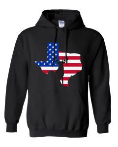 Pullover Hooded Sweatshirt Texas Black Whitetail Deer Vibrant Design High Quality Tight Knit Ring Spun Low Maintenance Cotton Printed With The Newest Available Color Transfer Technology