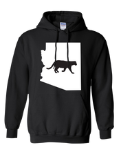 Load image into Gallery viewer, Pullover Hooded Sweatshirt Arizona Black Mountain Lion Vibrant Design High Quality Tight Knit Ring Spun Low Maintenance Cotton Printed With The Newest Available Color Transfer Technology