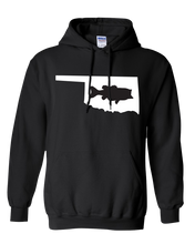 Load image into Gallery viewer, Pullover Hooded Sweatshirt Oklahoma Black Large Mouth Bass Vibrant Design High Quality Tight Knit Ring Spun Low Maintenance Cotton Printed With The Newest Available Color Transfer Technology