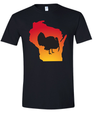 Load image into Gallery viewer, Short Sleeve T-Shirt Wisconsin Black Turkey Vibrant Design High Quality Tight Knit Ring Spun Low Maintenance Cotton Printed With The Newest Available Color Transfer Technology