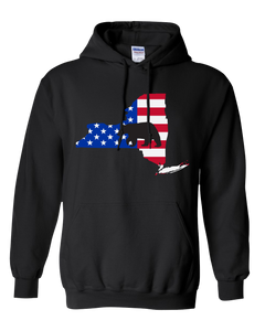 Pullover Hooded Sweatshirt New York Black Black Bear Vibrant Design High Quality Tight Knit Ring Spun Low Maintenance Cotton Printed With The Newest Available Color Transfer Technology