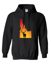 Load image into Gallery viewer, Pullover Hooded Sweatshirt Idaho Black Elk Vibrant Design High Quality Tight Knit Ring Spun Low Maintenance Cotton Printed With The Newest Available Color Transfer Technology