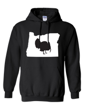 Load image into Gallery viewer, Pullover Hooded Sweatshirt Oregon Black Turkey Vibrant Design High Quality Tight Knit Ring Spun Low Maintenance Cotton Printed With The Newest Available Color Transfer Technology