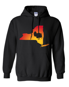 Pullover Hooded Sweatshirt New York Black Turkey Vibrant Design High Quality Tight Knit Ring Spun Low Maintenance Cotton Printed With The Newest Available Color Transfer Technology