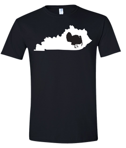 Short Sleeve T-Shirt Kentucky Black Turkey Vibrant Design High Quality Tight Knit Ring Spun Low Maintenance Cotton Printed With The Newest Available Color Transfer Technology