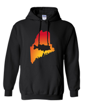 Load image into Gallery viewer, Pullover Hooded Sweatshirt Maine Black Large Mouth Bass Vibrant Design High Quality Tight Knit Ring Spun Low Maintenance Cotton Printed With The Newest Available Color Transfer Technology