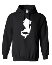 Load image into Gallery viewer, Pullover Hooded Sweatshirt New Jersey Black Large Mouth Bass Vibrant Design High Quality Tight Knit Ring Spun Low Maintenance Cotton Printed With The Newest Available Color Transfer Technology