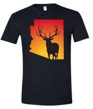 Load image into Gallery viewer, Short Sleeve T-Shirt Arizona Black Elk Vibrant Design High Quality Tight Knit Ring Spun Low Maintenance Cotton Printed With The Newest Available Color Transfer Technology