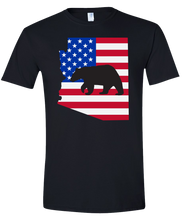 Load image into Gallery viewer, Short Sleeve T-Shirt Arizona Black Black Bear Vibrant Design High Quality Tight Knit Ring Spun Low Maintenance Cotton Printed With The Newest Available Color Transfer Technology